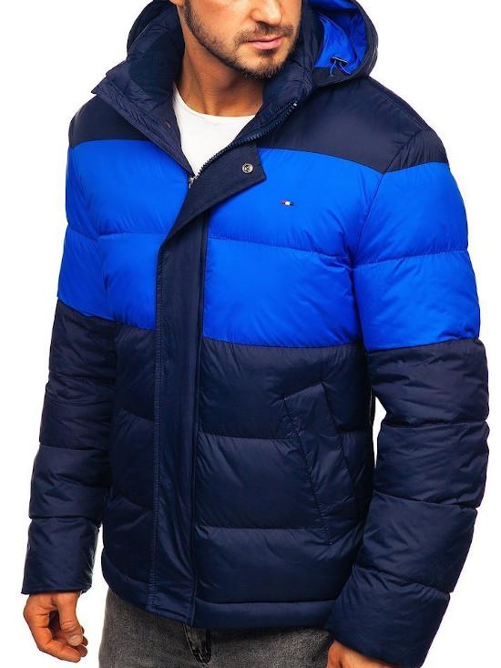Niebiesko-granatowa kurtka pikowana