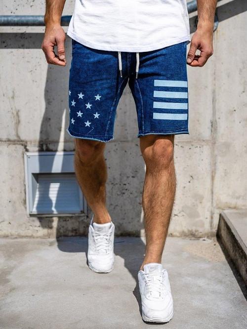 Szorty jeansowe z modną aplikacją